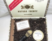 Ginger Patchouli Cigar Box Deluxe Shave/Shaving Set Kit - Curly Head Puck