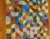 "Vintage Estate Sale Quilt top 35"" by 44""  - Hand Sewn - Hand Made - Hand Stitched"