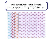 Felt squares fabric printed flower felt polyester arts and crafts 6inch uk