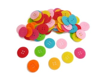 Pre cut felt shapes Felt circle button small Fabric felt patch fabric accessories crafts