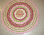 Handmade Pink and Lime Green Girly Rug\\Baby Girl Nursery Rug  - for Etsy