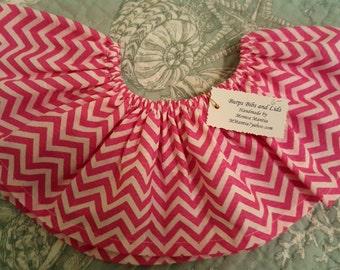 Girl's pink zigzag skirt--3-24 months