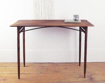 antique primitive folding table, folding craft table, wood table, sewing table, party table, wedding decor, party decor circa 1910