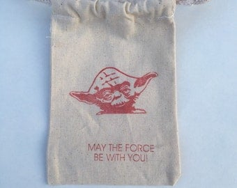 Star Wars Birthday favor bags / may the force be with you  /  Set of 28/ Yoda