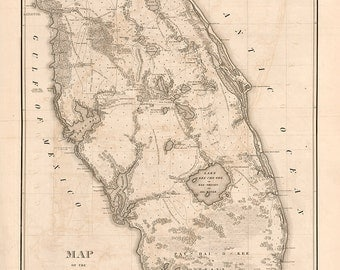 1838 Map of Florida
