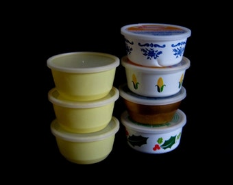 Empty Plastic Margarine Tubs 8 oz Short Mazola Fleischmann's 1980s 1970s Food Packaging Containers