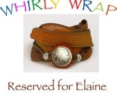 Reserved for Elaine, Silk Wrap Bracelet, Whirly Wrap, Rust and Gold Silk Wrap with Indian Head Nickel,  secure magnet, easy on