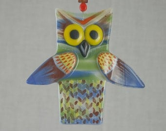 Fused glass owl - 01