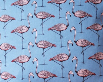 Flamingo Fabric - upholstery fabric - curtain fabric  - fabric by the yard - bird fabric - fabric - Flamingo interiors - alice in wonderland