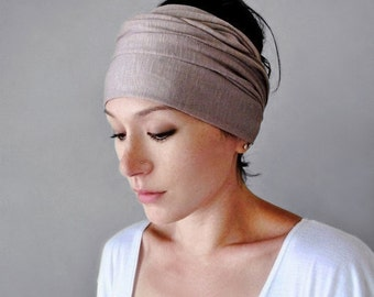 DRIFTWOOD Jersey Hair Wrap - Extra Wide Yoga Headband - Driftwood Head Scarf - Workout Accessory - EcoShag Hair Accessories