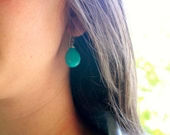 Turquoise Teardrop Earrings