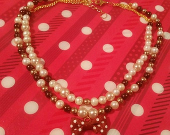 Chocolate Pearl Sweet Lolita Necklace