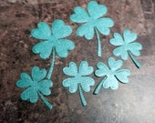 Collection of 6 four leaf clover die cut Embellishments