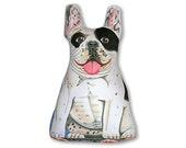 Stuffed Animal - French Bulldog -Three Sided  Pillow
