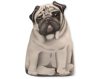 Pug - Three Sided Stuffed Animal Pillow