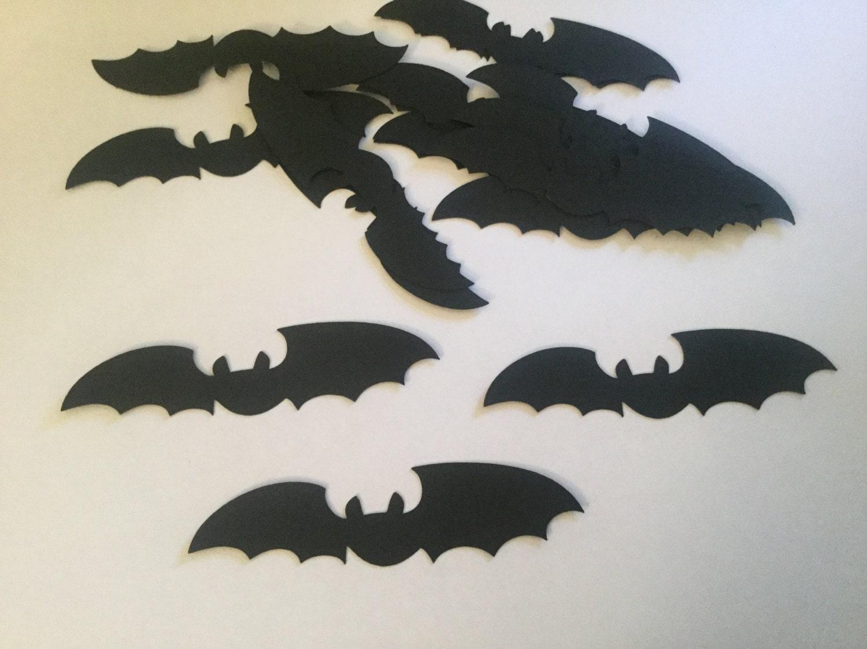 50 Halloween Black Bat Die Cuts Bat Confetti Bat Cutouts Bat Theme ...