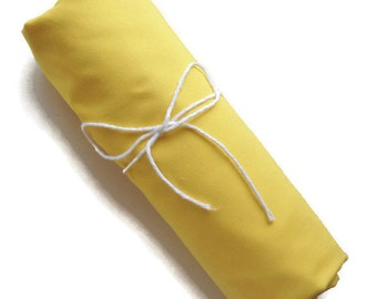 Fitted Crib Sheet - Yellow - Solid Crib Sheet - Flat Crib Sheet - Crib Sheet - Toddler Sheet - Baby Sheet -Solid Yellow Fitted Sheet-Bedding