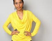 Yellow Tunic / Trendy Bright Yellow Blouse Tunic / Yellow sweater : Urban Chic Collection No.23