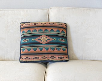 Native American Pillow Tribal Print Tapestry Throw Pillow Pastel Sunset Colors  from The Back part of the Basement