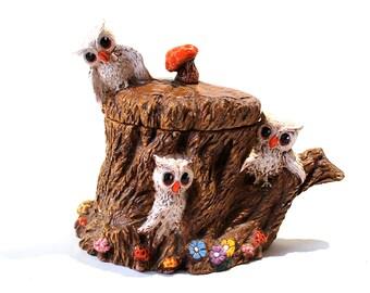 Ceramic Owl Kitchen Canister