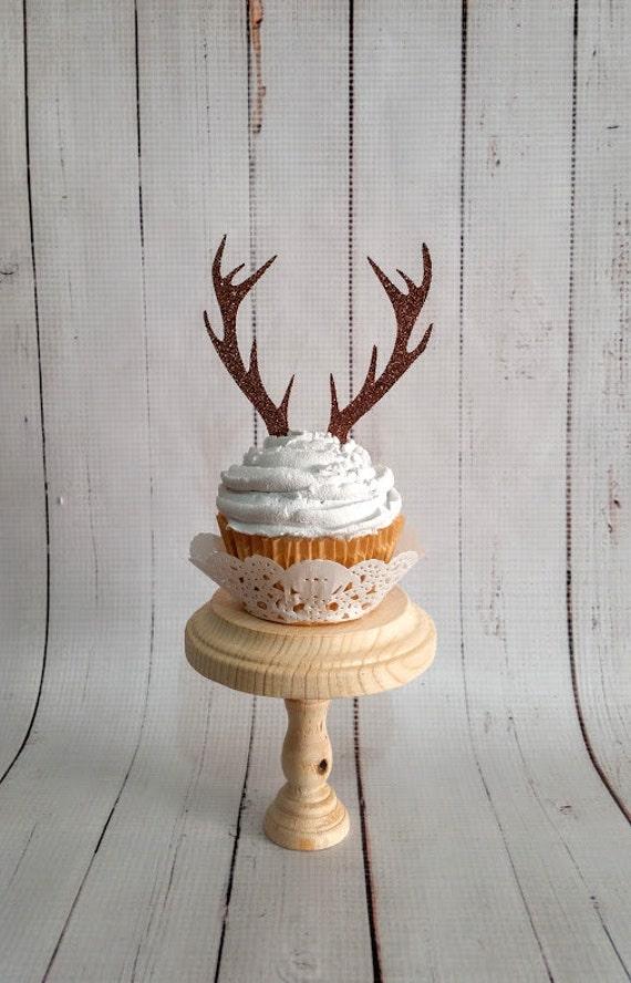 Deer Antler Cupcake Toppers Set Of 12