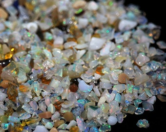 Opal Rough Ethiopian Welo Opal Small Rough White Cream Honey Rainbow Fire Precious Gemstone October Birthstone
