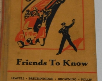 Friends To Know Friendly Hour Book Three Vintage Hardcover book 1935