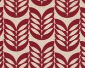 Leaf - Red Maroon Leaf CANVAS Fabric from Kokka