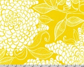 Mystic - Curry Yellow Blooms by Valori Wells from Robert Kaufman