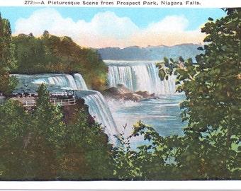 Niagara Falls, Prospect Park - Vintage Postcard - Unused (VV)