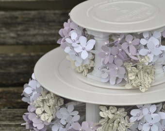 Hydrangea Cake Flowers, Paper. CHOOSE YOUR COLORS. Weddings, Showers, Baby, Bridal. Filler, Cake Decoration.