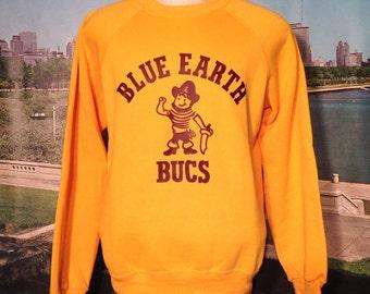 1980's Blue Earth Bucs sweatshirt, fits like a medium
