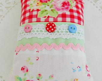 Cottage Chic Pincushion With Front Pocket