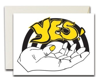 Yes! Black & Yellow, Card