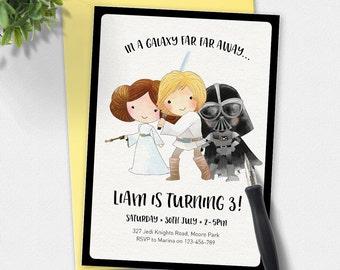 Star Wars Birthday Invitation, Star wars invitation, kids invitation, Custom invitation, party invitation, superhero birthday, printable