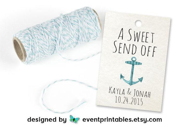 Printable Beach Wedding Favor Tags Sweet Send Off