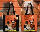 Australian Cattle Dog Art Tote Bag Vertigo Movie Poster NEW Collection by Nobility Dogs