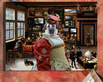 Anatolian Shepherd Art/ Anatolian Shepherd CANVAS Print/Dog Fine Art/Dog Portrait/Dog Painting/Dog Art Print/Custom Dog Art By Nobility Dogs
