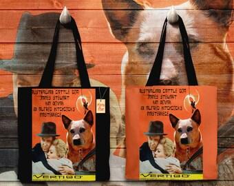 Australian Cattle Dog Art Tote Bag Vertigo Movie Poster NEW Collection by Nobility Dogs