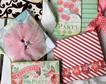 Post It Notes mini book, with ribbon closure, for purse, desk, portable, stocking stuffers, gifts