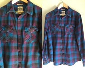 Plaid flannel shirt size medium to large