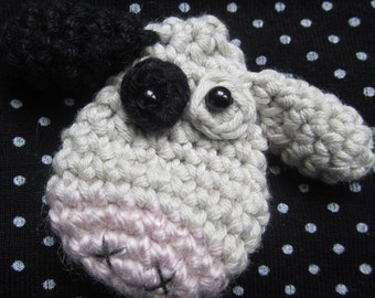 Crochet Pattern for Cheesecake the Cow Brooch