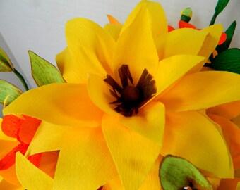 Mason Jar Bouquet - Country Walk  - Wild flower bouquet - Hand cut paper flowers -  Weddings, gifts, parties
