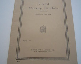 Selected Czerny Studies (Liebling) Book One 1906