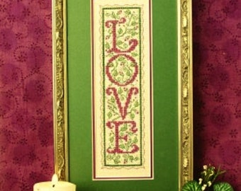 Sweetheart Tree Teenie Love Sampler Counted Cross Stitch Kit