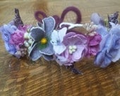 Newborn Crown Flower Halo Purple Newborn Floral Crown Flower Crown Floral Halo Newborn Floral Head Piece