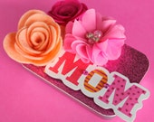 Mother' Day Gift Card Holder, Keepsake Mini Tin, Altered Gift Tin, Felt Flowers/Peachy Pinks