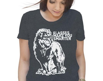 Albert Lionstein Glasses Make You Smarter T Shirt - American Apparel Tshirt - S M L Xl (Color Options)