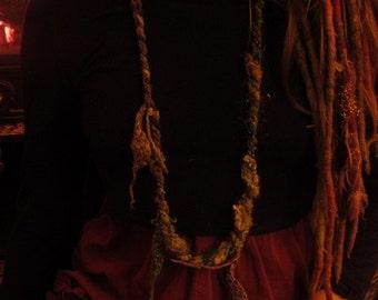 Handspun Necklace Cuff Bracelet Felted Scarf Wool Silk Felt Jewellery Rustic Jewelry Scarf Wrap Woodland Natural Neckwarmer Lagenlook Lariat
