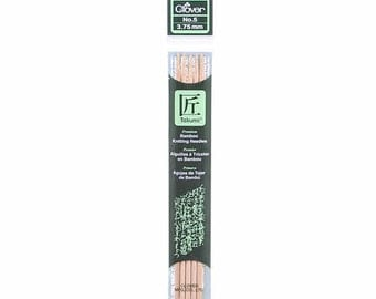 Clover Takumi Bamboo 7 inch Double Pointed Knitting Needles, Size 5.0 mm, No. 8 (3015/8)